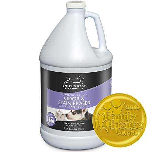 Emmy's Best Powerful Pet Odor Remover Color Saver and Urine Eliminator Deodorizer Exclusive Enzyme Carpet Cleaner Solution Takes Out Tough Stains, Odors (128 fl.oz)