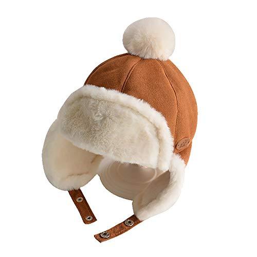 Wanjun Gorro De Punto Suave Y Cálido para Bebé, Adecuado para Niños De 1 A 3 Años. Sombrero De Tres Colores para Viajes Al Aire Libre En Invierno,A