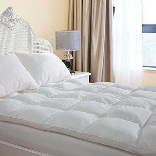 Overfilled Overfilled Extra Thick Plush Mattress Topper Queen Size, Overfilled Mattress Pillowtop Bed Topper for Best CushioningExtra Thick Mattress Topper Queen Size