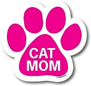 Magnet Me Up Cat Mom Pink Pawprint Car Magnet 5