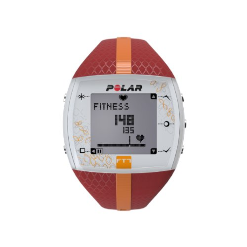 Polar Damen Herzfrequenz-Messgerät Fitness Uhr, Red Orange, 90051048