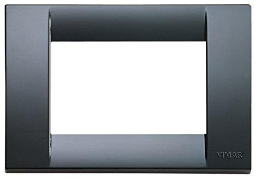 VIMAR, 16743.15 Idea Placca Classica 3 moduli in tecnopolimero, grigio grafite, 1 Pezzo