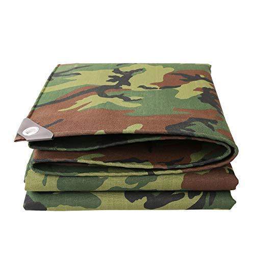 MAGFYLY Grote Camping Tuin Zware Duty Camouflage Tarps, Waterdichte Canvas Tent Tarpaulin Cover, Met UV-bescherming Voor Outdoor Camping RV Truck En Trailers, Meerdere Maten Tarps