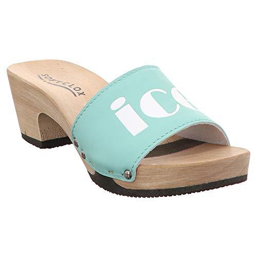 Softclox | Kalea | Pantolette | Clogs - grün | Mint, Farbe:grün, Größe:40