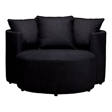 Ethan Allen | Disney Mickey Mouse Club Chair and a Half, Quick Ship, Lucky Denim Black