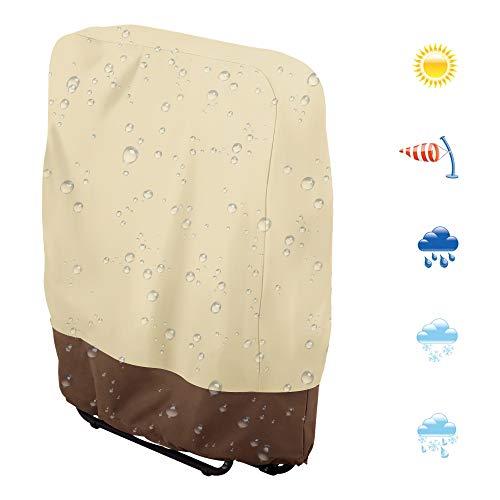 FullLove Gartenliege Abdeckung mit Belüftungsöffnungen, Wasserdicht, Winddicht, UV-Beständiges, Schwerlast 600D Oxford Gewebe Schutzhülle für Sonnenliege Liegestuhl Deckchair (82 * 93cm)