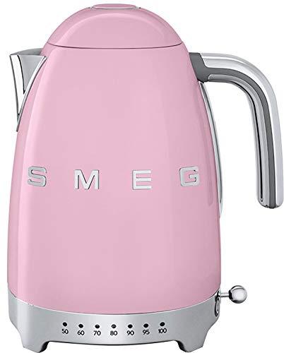 Smeg KLF04PKEU Wasserkocher, 2400, Metall, 1.7 liters, Pastellrosa