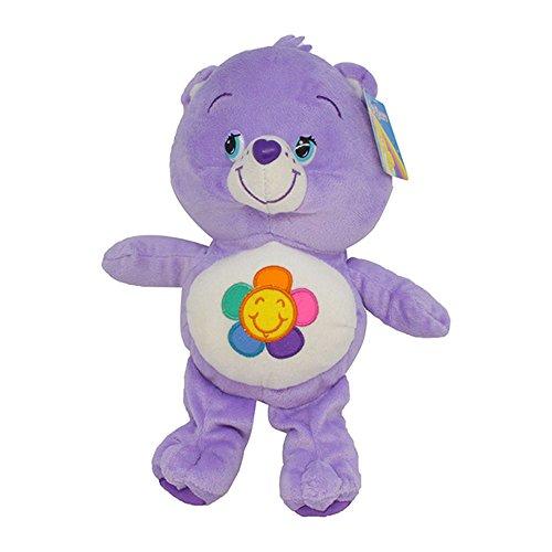 Harmoniebärchi 24/30cm Super Weich Bär Teddybär Plüschtier Die Glücksbärchis Care Bears blaulila Blume Bär