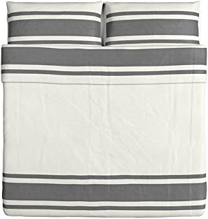 Ikea Bjornloka Duvet Cover and Pillowcase - King