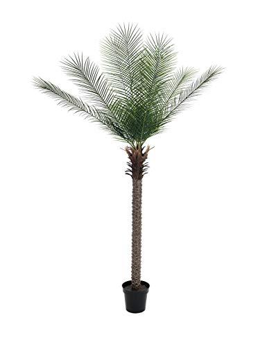 artplants.de Deko Phönix Palme, getopft, Deluxe, 220cm, wetterfest - Kunstpalme - Palm Baum künstlich