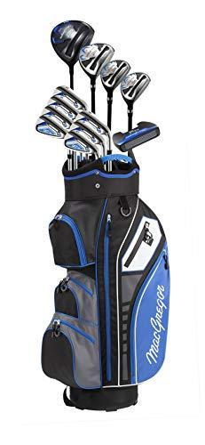 MACGREGOR Herren DCT3000 Mens Golf Package Set & Golf Club Bag Golfschläger-Set, Schwarz/Royal, 5-SW, Putter