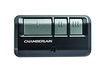 Chamberlain Group G953EV-P2 Chamberlain/LiftMaster/Craftsman 953EV-P2 3-Button Security +2.0 Compatible Includes Visor Clip Garage Door Opener Remote  Black  Small