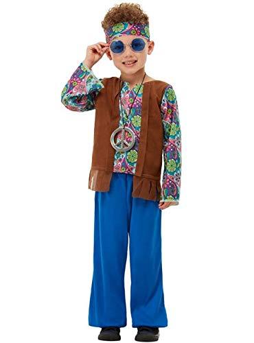 Funidelia | Disfraz de Hippie para nio Talla 7-9 aos Aos 60, Hippie, Flower Power, Dcadas - Multicolor