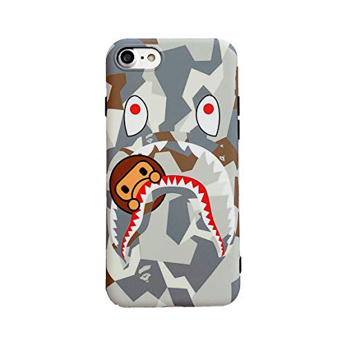 Beefkcase Hoolcase iPhone 7 iPhone 8 iPhone SE 2020 Soft Case for Shark FaceShark Teeth Fans, Shockproof TPU Protective Non-Slip 4.7 Inch Case for iPhone 78SE2 (Baiyu)