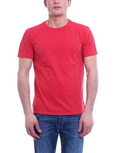 Ralph Lauren MOD. 710671438 T-Shirt Girocollo Uomo Custom Fit Rosso S