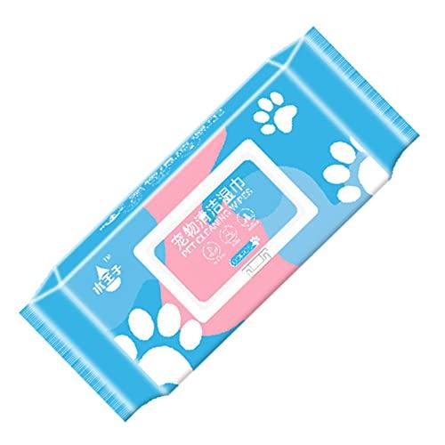 80 Piezas Toallitas Húmedas Para Mascotas Toallitas Limpieza Para Mascotas Limpieza Aseo Y Desodorización Toallitas Gruesas Hipoalergénicas Funda Protectora Para Perros Y Gatos Para Viajes A La Playa