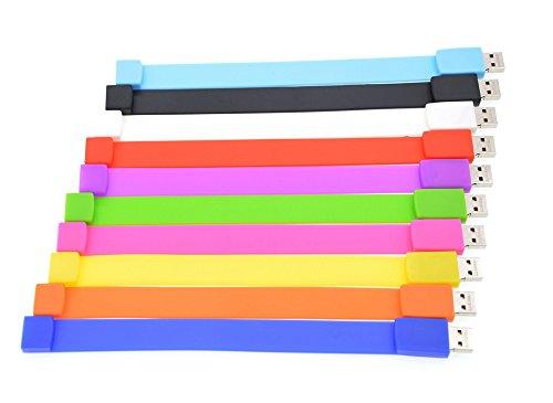 Pendrives 8 GB 10 pezzi Flash Drive pratica chiave USB – Memoria USB 2.0 8 GB 10 unità portatile Multi economico Pen Drive – Portatile, braccialetto unità USB, regalo per la festa del bambino