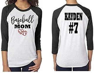 c985b673 Baseball Mom- Baseball Mom Shirts For Women- Raglan Baseball Mom Shirt-  Unisex Fit