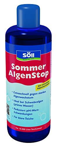 Söll 18763 SommerAlgenStop 500 ml Teichpflegemittel gegen starkes Algenwachstum im Sommer - extraschnelle Teichpflege Algenbekämpfung ideal bei Schwebealgen Teichalgen Blaualgen