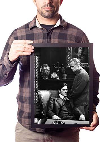 Quadro Don Vito & Michael Corleone Foto O Poderoso Chefão