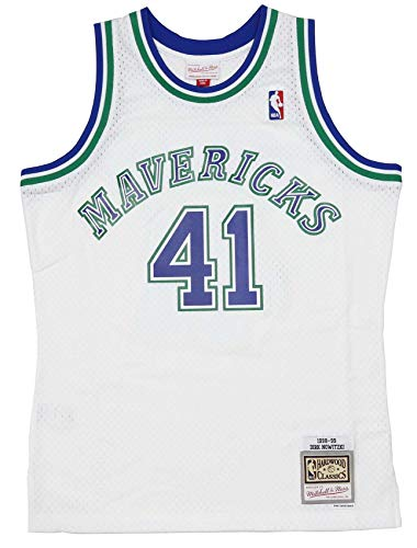 Mitchell & Ness Dirk Nowitzki #41 Dallas Mavericks NBA Swingman Jersey M