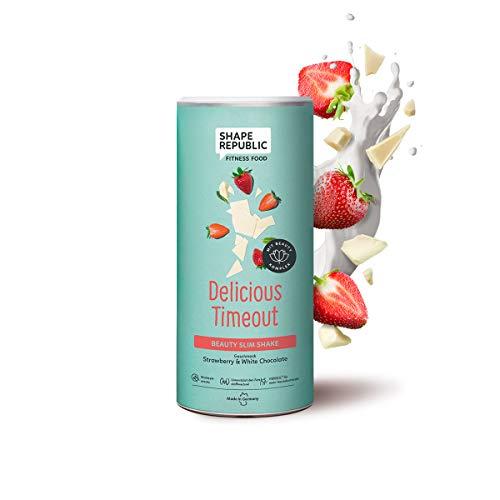 Shape Republic Beauty Slim Shake Strawberry & White Chocolate (420g), Diätshake zum Abnehmen, Reich an wichtigen Nährstoffen