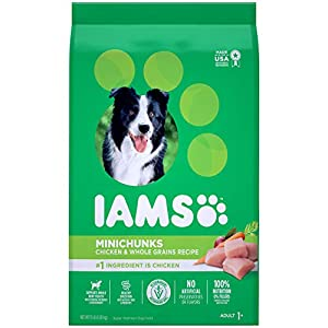IAMS PROACTIVE HEALTH Adult Minichunks Small Kibble High Protein Dry Dog Food with Real Chicken, 15 lb. Bag