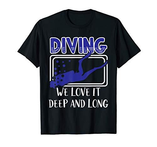Tief und Lang Taucher Wassersport T Shirt Geschenk