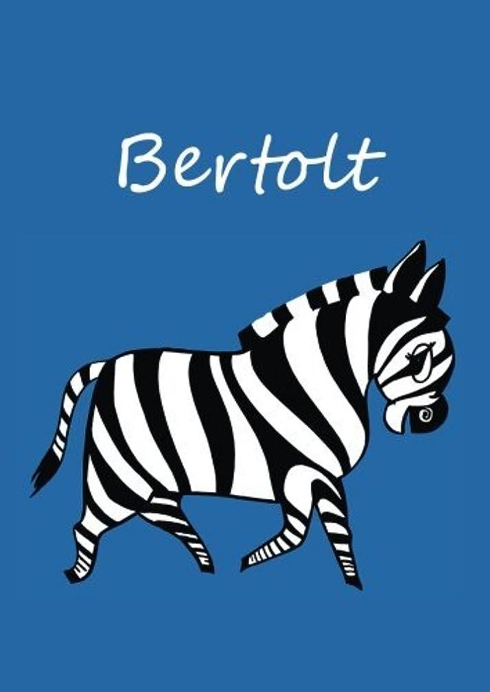クロス浴室自動Bertolt: individualisiertes Malbuch / Notizbuch / Tagebuch - Zebra - A4 - blanko