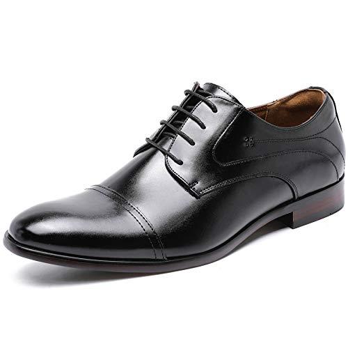 [フォクスセンス] ビジネスシューズ 革靴 軽量・撥水 高級紳士靴 メンズ 本革 ストレートチップ 外羽根 ブラック 25.5cm P509-01