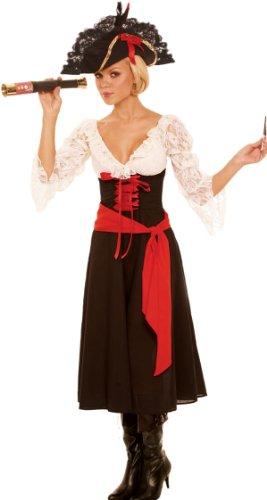 Piraten-Kostüm Kleid, Schal und Teleskop Gr. M (6-10)