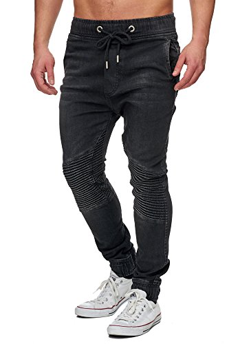 Tazzio Biker Style Herren Jeans 16505 Schwarz XL