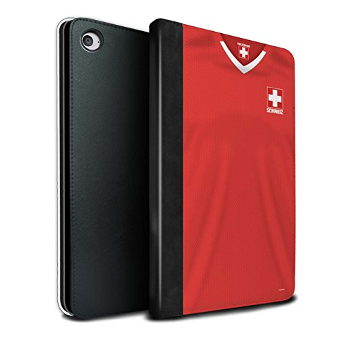 Stuff4® PU-lederen hoes/case/portefeuille/IP-TSB/World Cup 2018 voetbalshirt collecktion Apple iPad Mini 4 Zwitserland/Zwitsers