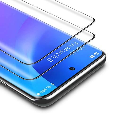 BANNIO für Panzerglas für Samsung Galaxy S20,2 Stück 3D Full Screen Panzerglasfolie Schutzfolie für Samsung Galaxy S20,9H Härte Displayschutzfolie,Schwarz