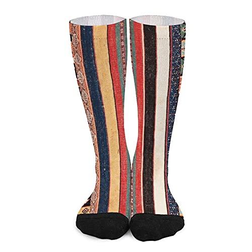 Calcetines deportivos unisex novedad alta comodidad transpirable atlético casual largo tubo medias - venta antiguo Marruecos norte africano alfombra