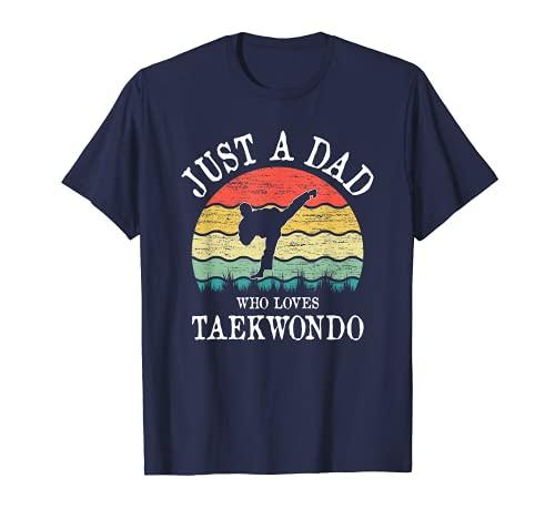 Just A DAD Who Loves Taekwondo T-Shirt