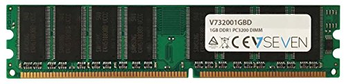V7 V732001GBD Desktop DDR1 DIMM Arbeitsspeicher 1GB (400MHZ, CL3, PC3200, 184pin, 2.6 Volt)