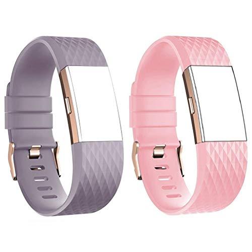 D&D DD Compatibile con Fitbit Charge 2 Cinturino, Cinturino di Ricambio per Fit Bit Charge2 Orologio