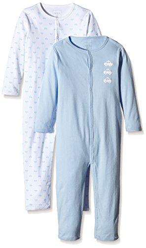 NAME IT NAME IT Baby-Jungen NITNIGHTSUIT M B NOOS Schlafstrampler, Mehrfarbig (Cashmere Blue), 92 (2er Pack)