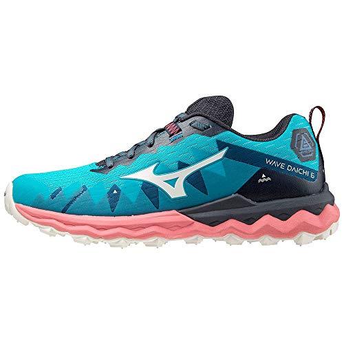 Mizuno Wave Daichi 6, Zapatillas para Carreras de montaña Mujer, Scubab Blancanieves Tearose, 38.5 EU