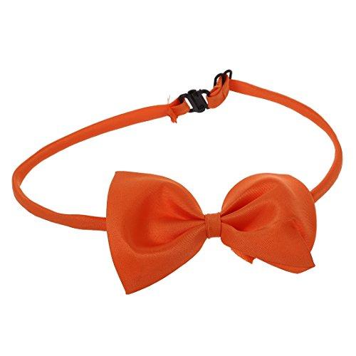 OVBBESS Collar ajustable para mascotas pajarita, pajarita, accesorio para cachorros, color naranja