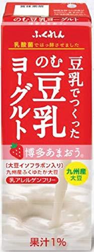 ふくれん 豆乳でつくった のむ豆乳ヨーグルト 博多あまおう 紙パック 200ml×24本入