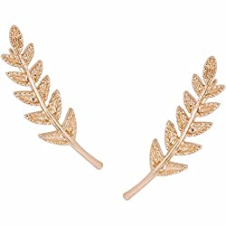 Gold-Plated Tiny Plated Branch Ear Climbers