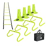 Pro Footwork Agility Ladder and Hurdle Training Set