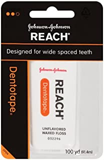 Reach Dentotape Unflavored Waxed Floss, 100yd (Pack of 3)
