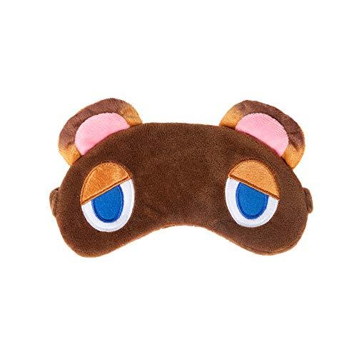 WELLMILLER Novelty Tom Nook Eye Mask for Sleeping, Raccoon Blindfold Sleep Mask, Super Soft Smooth Plush