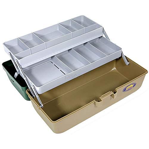Lineaeffe Mallette 2 Plateaux 2 33.5 x 14.8 x 15.3 cm Boîte de Pêche Msllette Rangement Accessoire Leurre Hameçon Tackle Box Plastique