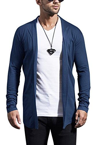 Maniac Mens Fullsleeve Navy Cotton Shrug