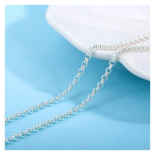 YBDZ 925 Silver Necklace 16/18 inch 925 Sterling Silver Accessory Chain Matching (Color : Chains, Size : 40.5cm)