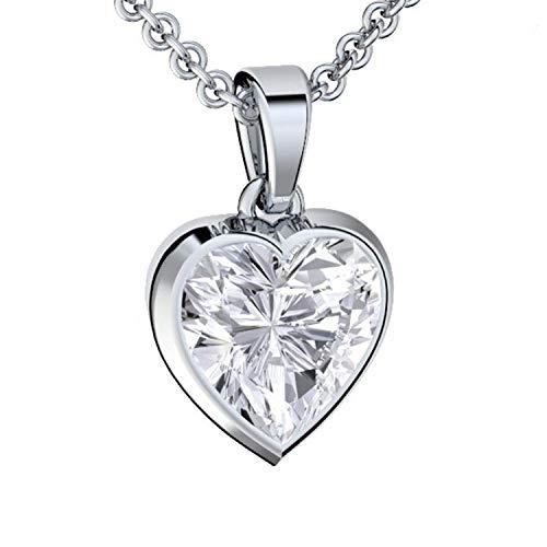 Herzkette Silber 925 Premium Etui mit *Ich Liebe Dich* Gravur Halskette für Damen Silber Herz Kette Damen Freundin Geschenk Liebe Silberkette mit Anhänger Silber-Schmuck Frau Frauen Damenkette Herz